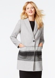 Calvin Klein Contrast-Stripe Walker Coat