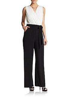 Calvin Klein Contrast Top Jumpsuit
