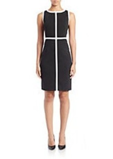 CALVIN KLEIN Contrast-Trim Sheath Dress