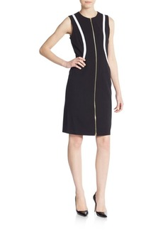Calvin Klein Contrast Zip-Front Dress