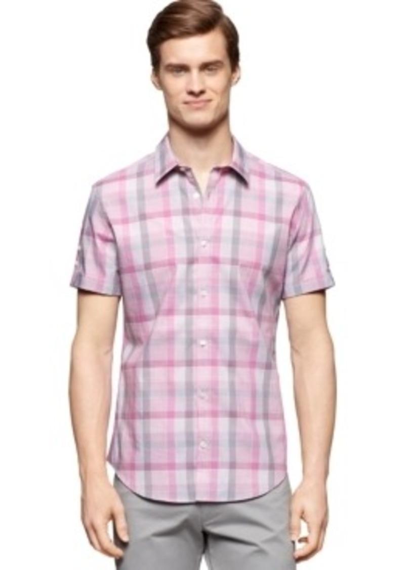 Calvin Klein Calvin Klein Corded Plaid Slim Fit Shirt