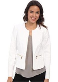 Calvin Klein Cotton Jacket with Zipper Front Detail