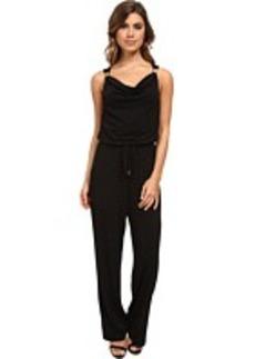 Calvin Klein Cowl Jumpsuit w/ Hardware