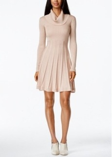Calvin Klein Cowl-Neck Fit & Flare Sweater Dress