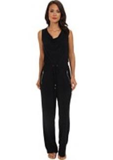 Calvin Klein Cowl Neck Jumpsuit w/ Hardware