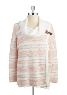 CALVIN KLEIN Cowlneck Wrap Sweater