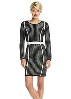Calvin Klein Crochet Overlay Sweater Dress