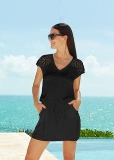 Calvin Klein Crochet-Shoulder Tunic Cover Up Women's Swimsuit