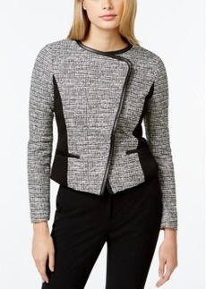 Calvin Klein Cropped Faux-Leather-Trim Jacket