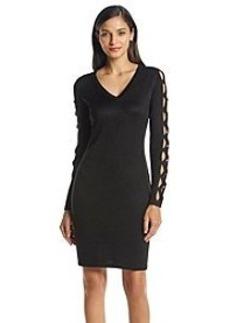 Calvin Klein Cutout Sleeve Sweater Dress