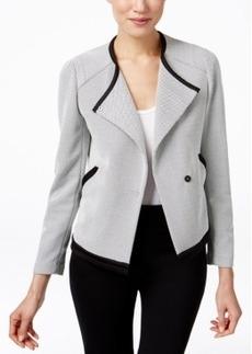 Calvin Klein Dobby Open-Front Jacket