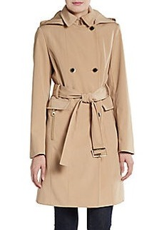 Calvin Klein Double-Breasted Belted Trenchcoat