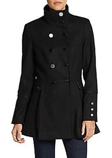 Calvin Klein Double-Breasted Melton Wool Coat