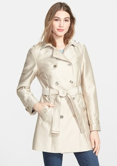 Calvin Klein Double Breasted Satin Trench Coat