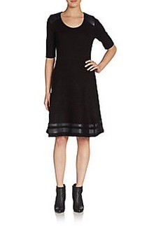 Calvin Klein Double Ribbed Knit Dress