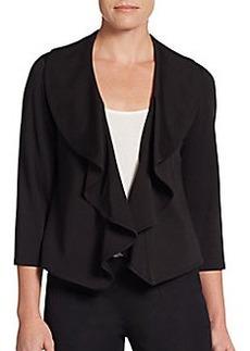 Calvin Klein Drape-Front Ponte Jacket