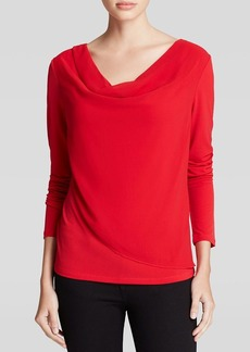 Calvin Klein Draped Front Top
