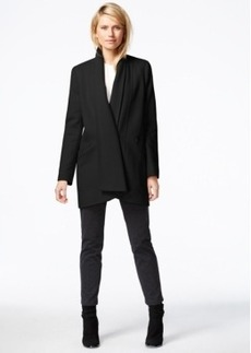 Calvin Klein Draped Shawl-Collar Coat
