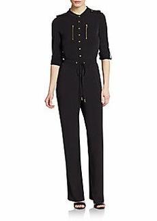 Calvin Klein Drawstring-Front Jersey Jumpsuit