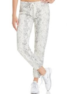 Calvin Klein Drawstring Snakeskin-Print Pants