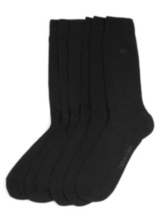 Calvin Klein Women's Dressy Ribbed Ck Logo 3 Pack Socks