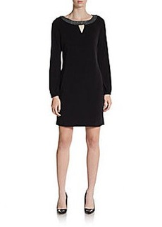 Calvin Klein Embellished Boatneck Shift Dress