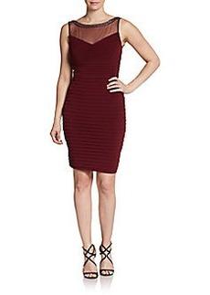 Calvin Klein Embellished Illusion Top Textured Dress