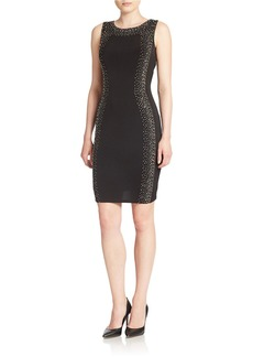 CALVIN KLEIN Embellished Jersey Dress