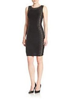 CALVIN KLEIN Embellished Jersey Dress