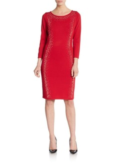 Calvin Klein Embellished Knit Dress
