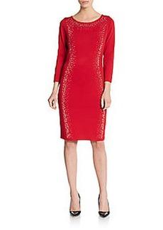 Calvin Klein Embellished Knit Dress