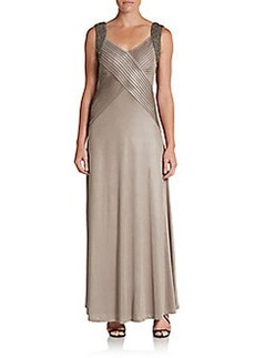Calvin Klein Embellished Knit Gown