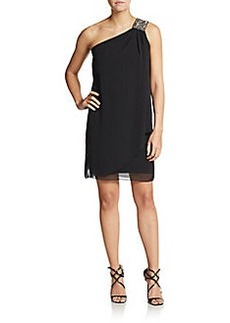 Calvin Klein Embellished One-Shoulder Dress