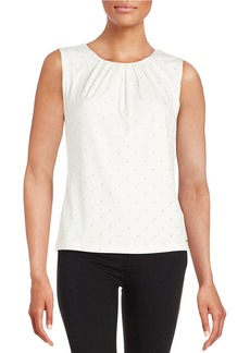 CALVIN KLEIN Embellished Pleated Blouse