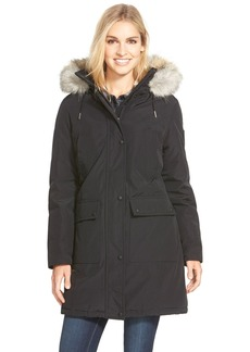 Calvin Klein 'Expedition' Parka with Faux Fur Trim