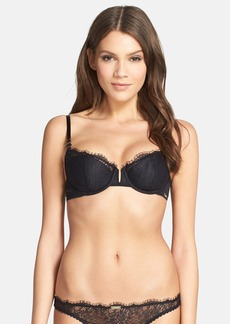 Calvin Klein Eyelash Chantilly Lace Underwire Demi Bra