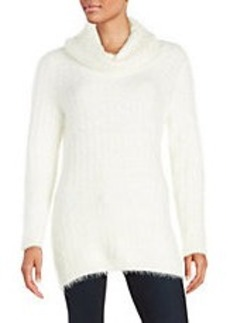 CALVIN KLEIN Eyelash Turtleneck Sweater