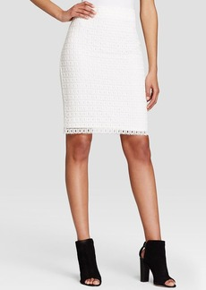 Calvin Klein Eyelet Pencil Skirt