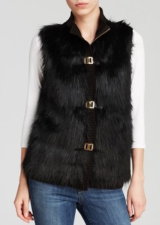 Calvin Klein Faux Fur Sweater Vest