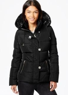 Calvin Klein Faux-Fur-Trim Down Puffer Coat