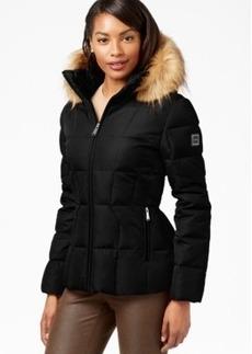 Calvin Klein Faux-Fur-Trim Hooded Puffer Down Coat