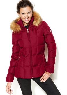Calvin Klein Petite Faux-Fur-Trim Hooded Puffer Parka Coat