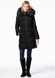 Calvin Klein Faux-Fur-Trim Puffer Down Jacket