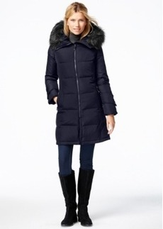 Calvin Klein Faux-Fur-Trim Puffer Down Jacket