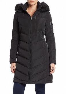 CALVIN KLEIN Faux Fur-Trimmed Down Puffer Coat
