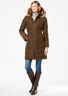 Calvin Klein Faux-Fur-Trimmed Hooded Down Coat
