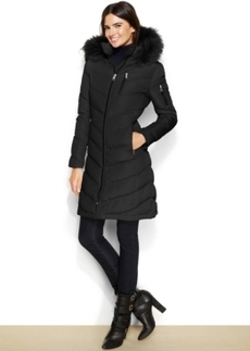 Calvin Klein Faux-Fur-Trimmed Hooded Down Coat