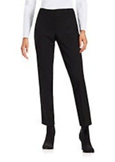 CALVIN KLEIN Faux Leather-Accented Pants