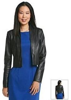 Calvin Klein Faux Leather Jacket Shrug