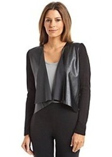 Calvin Klein Faux Leather Open Shrug